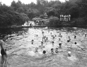 Original Swimming Pool at Columbus Park, 1935