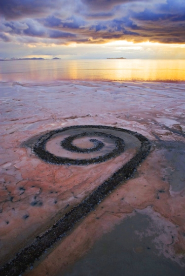 spiral jetty via carex--robert smithson